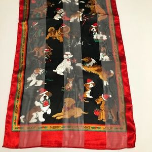 Christopher & Banks Holiday Dog Print Scarf